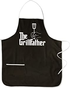 Spoontiques THE THE GRILLFATHER APRON, 28 x 0.1 x 31 inches, Black