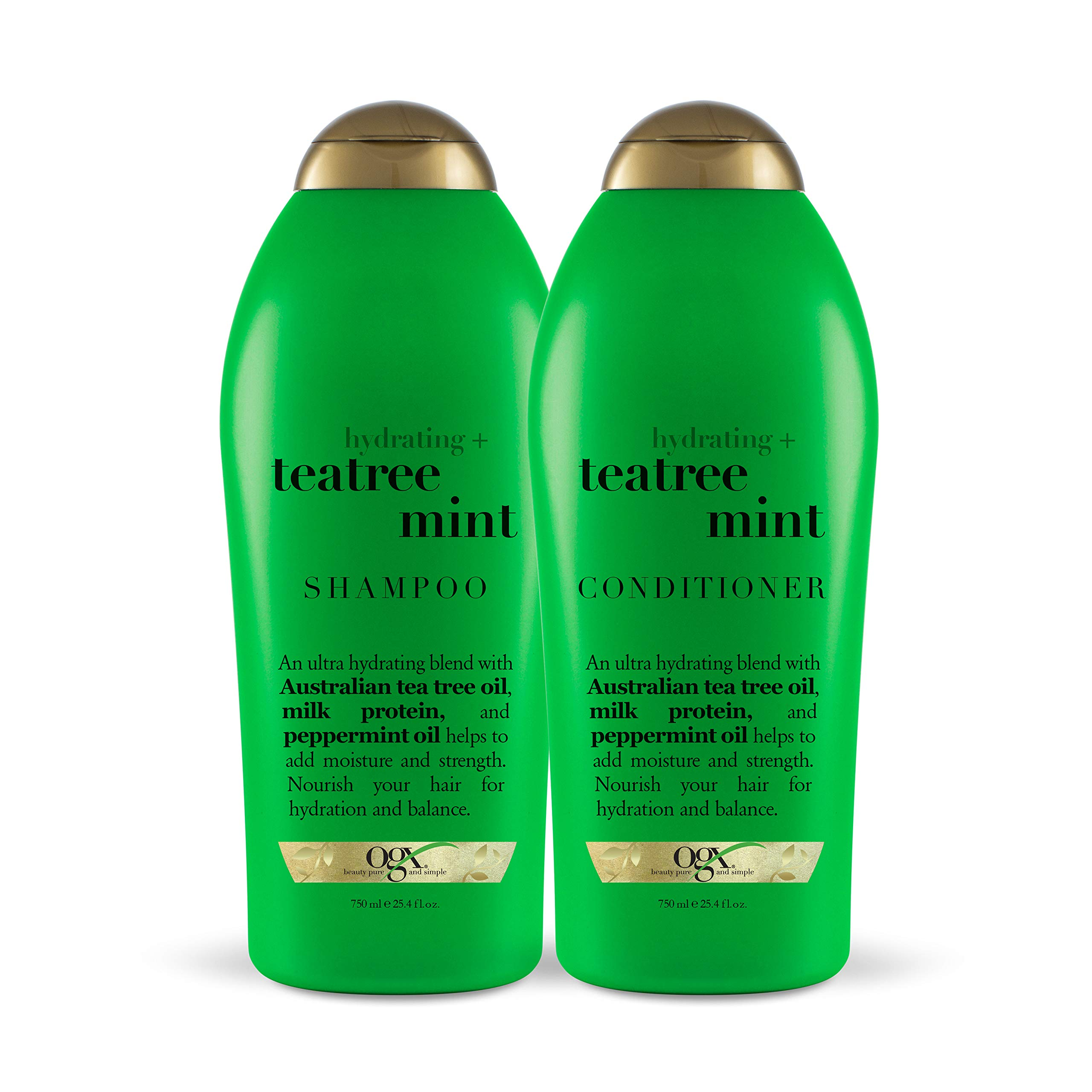 OGX Hydrating + Tea Tree Mint Shampoo & Conditioner, 25.4 Ounce (Set of 2) by OGX
