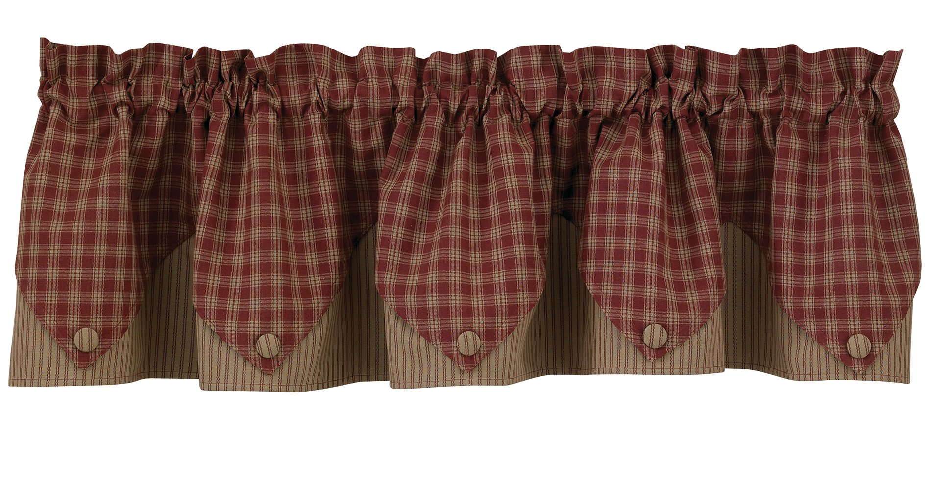 Sturbridge Lined Point Valance - Wine (72'' wide x 15'' long) by Park Designs