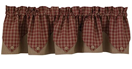 Sturbridge Lined Point Valance – Wine 72 wide x 15 long