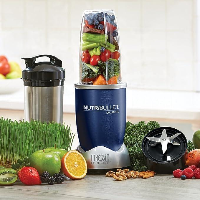 NutriBullet - Extractor de nutrientes, 1000W, color azul marino - [importado, instrucciones no en español]: Amazon.es: Hogar