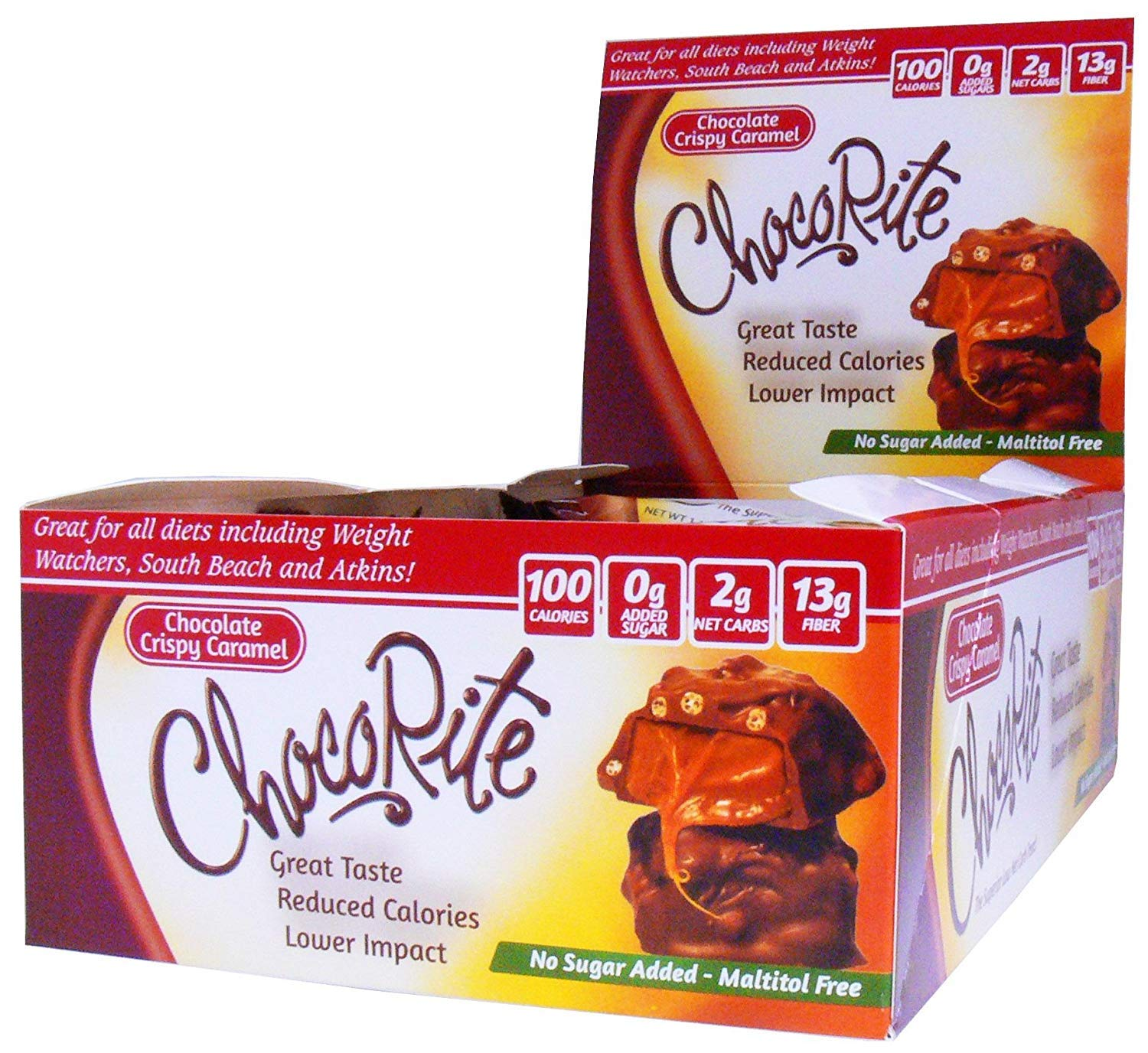ChocoRite Crispy Caramel, Crispy Caramel, 18 Ounce (4 Pack) by ChocoRite