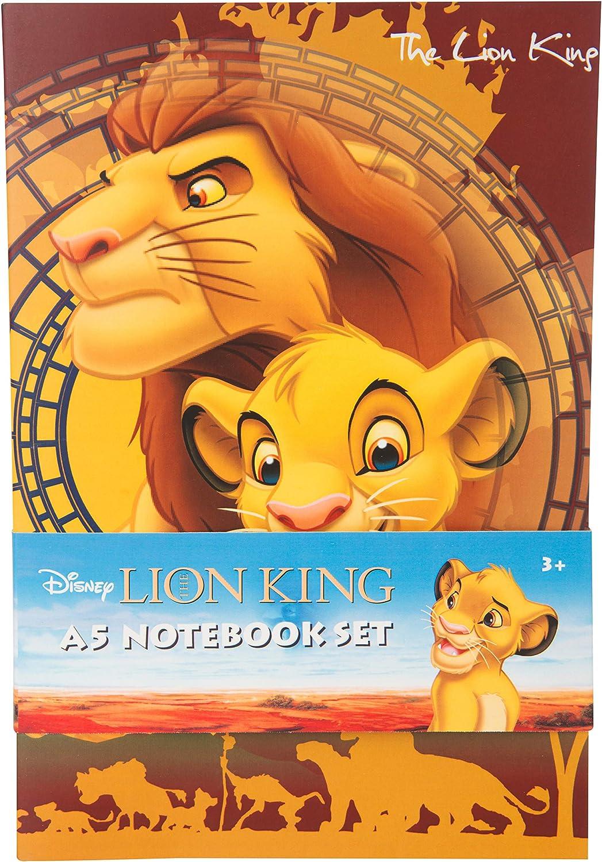 Carnet de Notes A5 avec Inscription /« Die Lion /» pour Enfants avec Simba