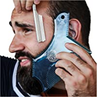 Monster&Son Beard Shaping Tool - Classic Oversized Design (Blue Clear)