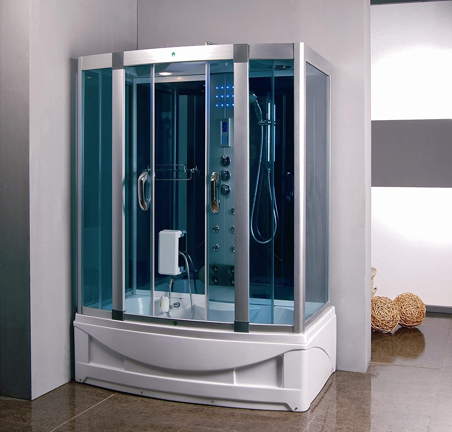 Kokss 9001 Home Luxury Bathtub Spa, Steam Shower Sauna Enclosure ...