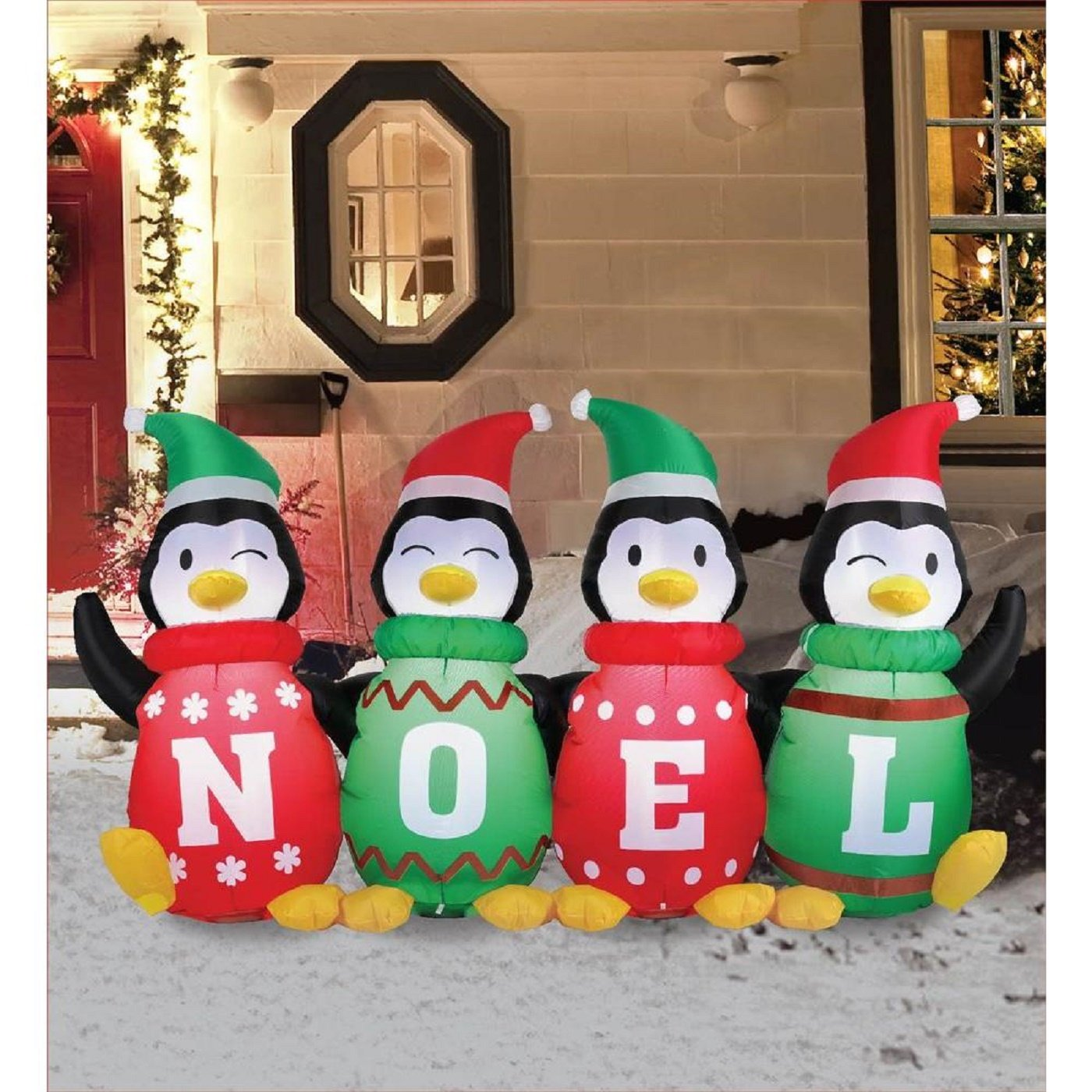 Amazon 6 ft Inflatable Sweater Penguins Home & Kitchen
