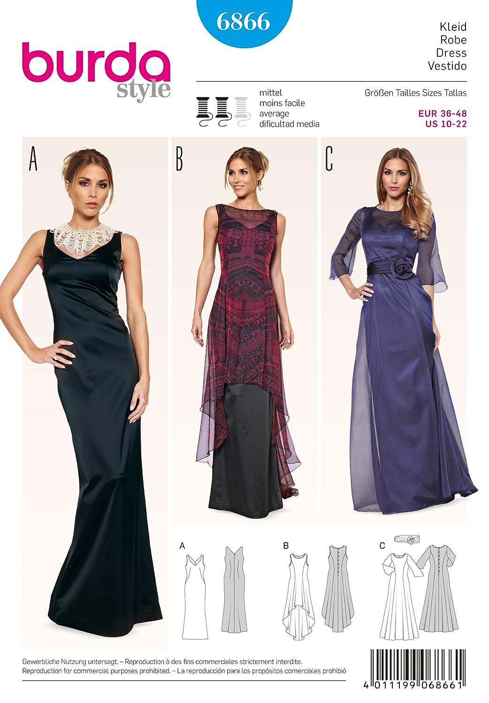 7754a15d710 Burda Schnittmuster Kleid 6866  Amazon.de  Küche   Haushalt