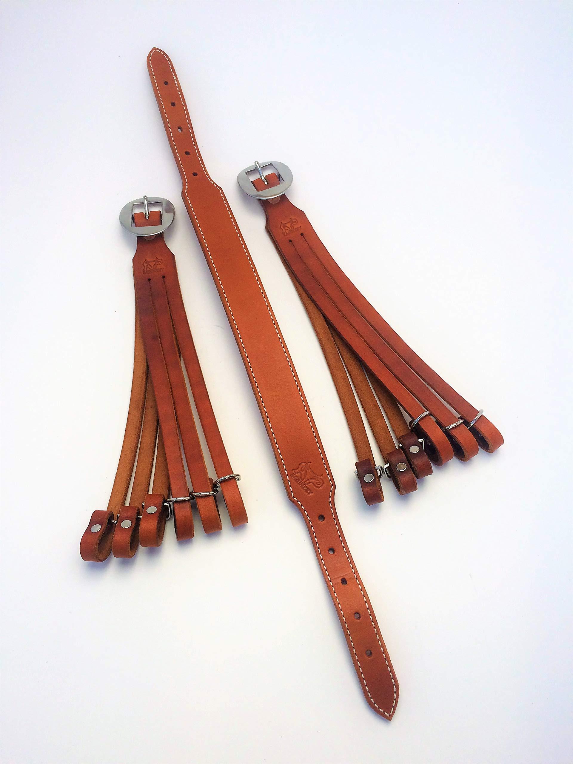 AP Saddlery Adjustable Low Profile Leather Duck Holder (Saddle Tan)