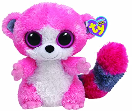 0fed6c21a65 Amazon.com  Ty Beanie Boos - Bubblegum the Lemur (UK Exclusive ...