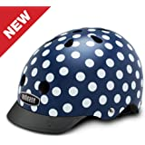 Nutcase - Patterned Street Bike Helmet for Adults, Navy Dots, Small