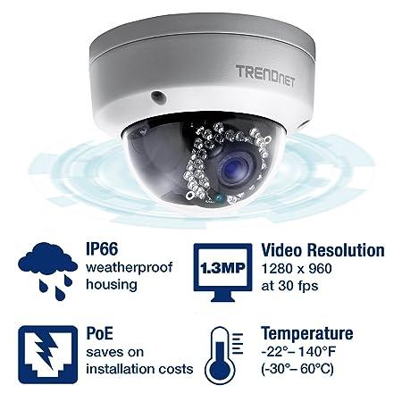 TRENDnet TV-IP321PI al aire libre 1.3 Megapixel HD PoE Dome Día/Noche Red: Trendnet: Amazon.es: Electrónica