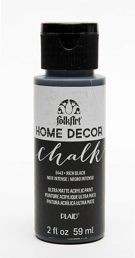 Amazon Com Folkart 6443 Home Decor Chalk Furniture Craft Paint In Assorted Colors 2 Oz Rich Black