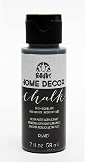 product image for FolkArt Home Décor Chalk Furniture & Craft Paint in Assorted Colors, 2 oz, Rich Black