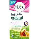 Veet - Natural Inspirations Maxi Format Bande de Cire 40 Pièces