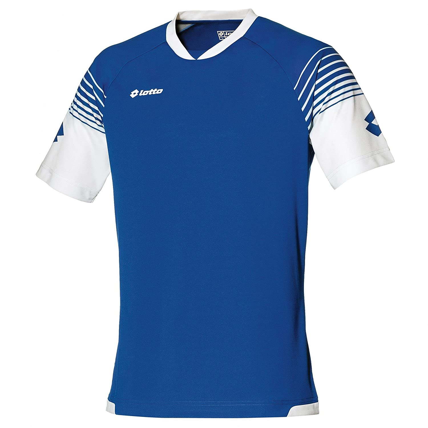 60b1e562ced Lotto Mens Football Jersey Omega Sports T-Shirt (2XL) (White/Black):  Amazon.in: Clothing & Accessories