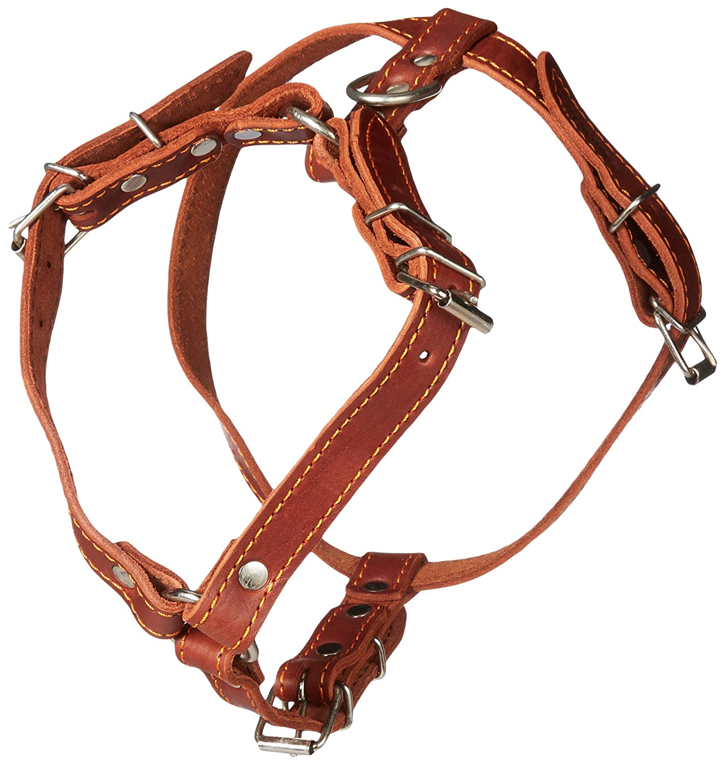 Genuine Leather Dog Walking Harness Medium Brown 21-25 Chest