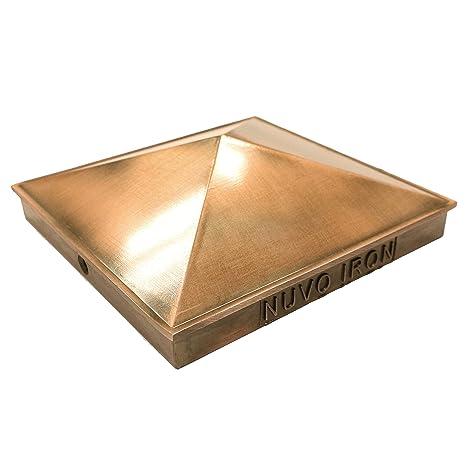 Nuvo Iron Decorative Pyramid Aluminium Post Cap For True 6 X 6 Posts Copper Plated