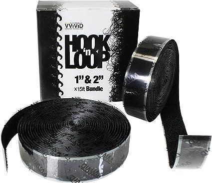 1 x 15ft, White Hook n Loop Super Industrial Strength Adhesive Fastening Tape