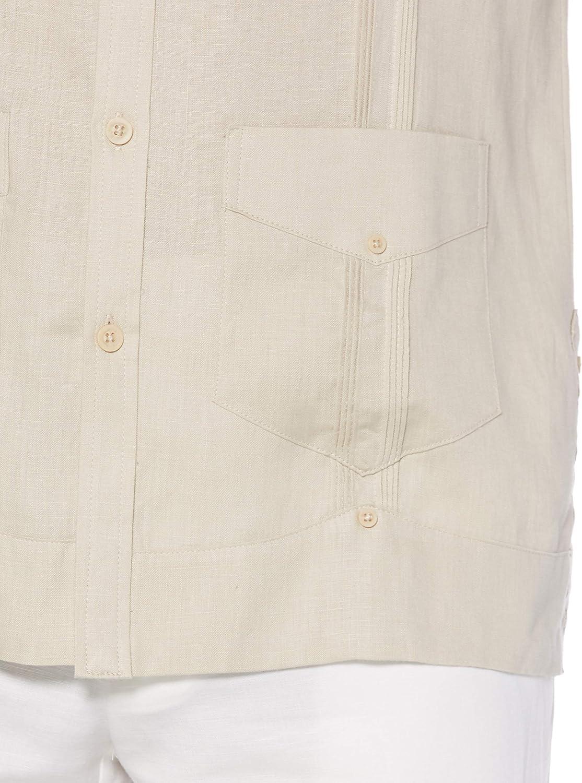 Cubavera Mens Long Sleeve 100/% Linen Guayabera