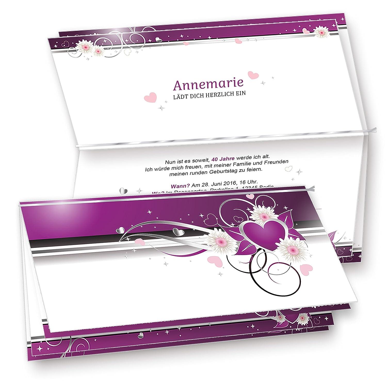 Kuverts) Set Mit 20 Karten, 20 Umschläge, 20 Einlegeblätter Zum  Selbstbedrucken + Silberband. Für Einladungen, Glückwünsche Oder Hochzeit.