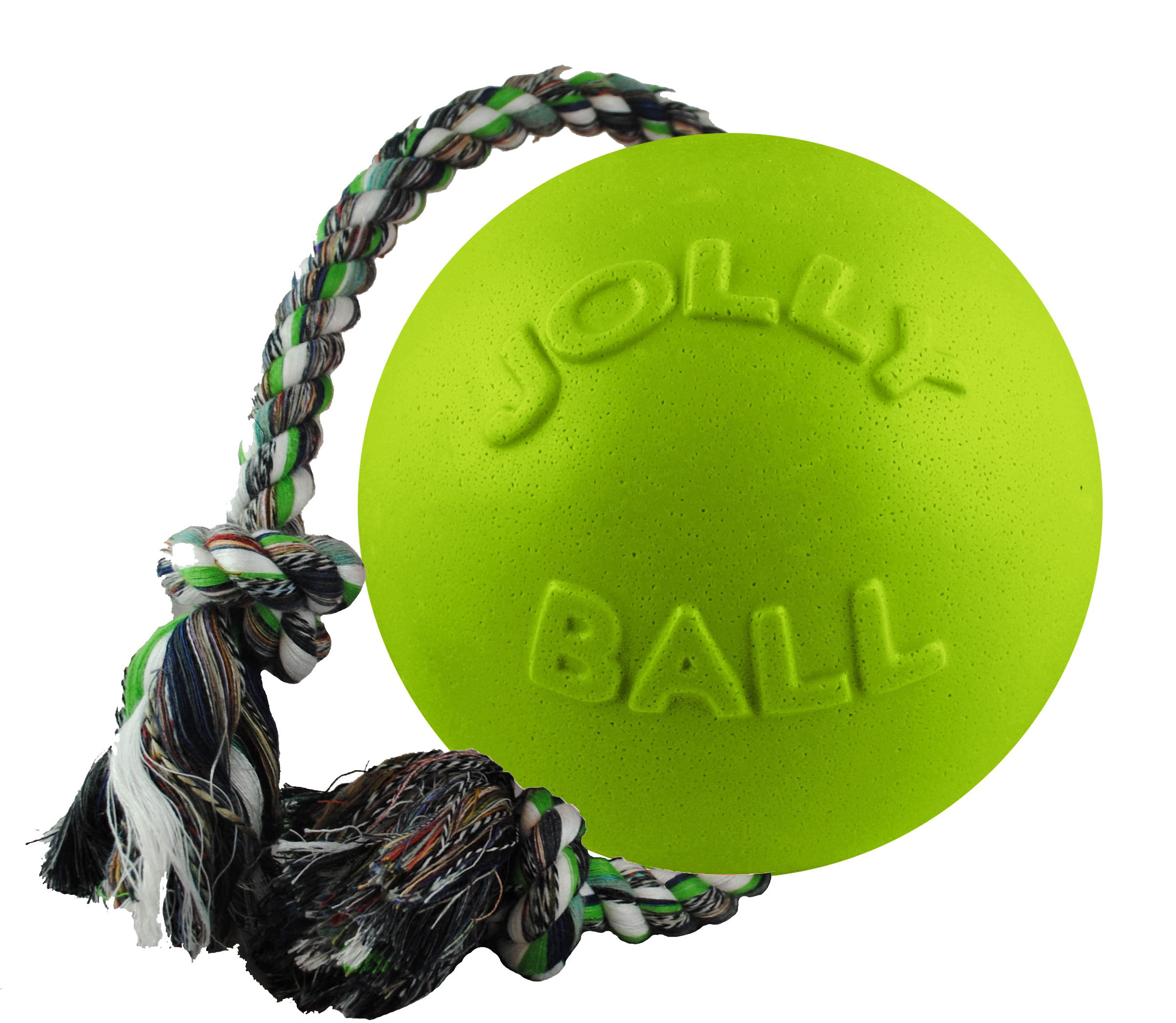 Jolly Pets 4.5'' Romp-n-Roll Dog Toy, Small, Apple