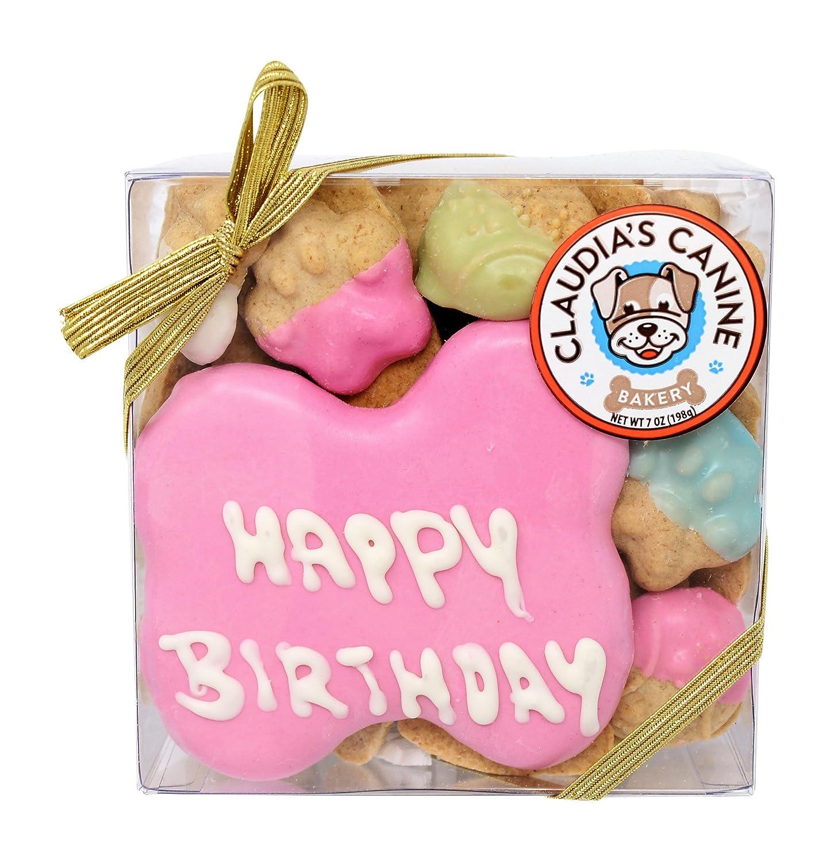 Amazon.com : Happy Birthday Assorted Dog Treats in Pink by Claudia\'s ...