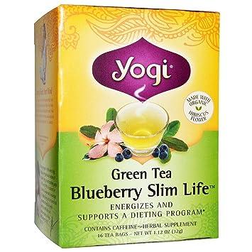 Amazon Com Yogi Tea Green Tea Blueberry Slim Life 16 Bags Pack
