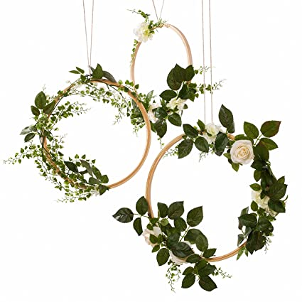 7637f4fd91a Amazon.com  Ling s moment Greenery Wedding Handcrafted Vine Wreaths ...