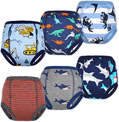 Reusable Diapers Training Pants 3 layers Baby Potty Underwear Waterproof Cotton
