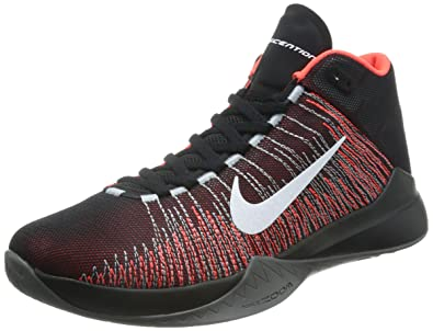 2016 Nike Zoom Ascention Black/Bright Crimson/White Basketball Shoes! Size 10.5