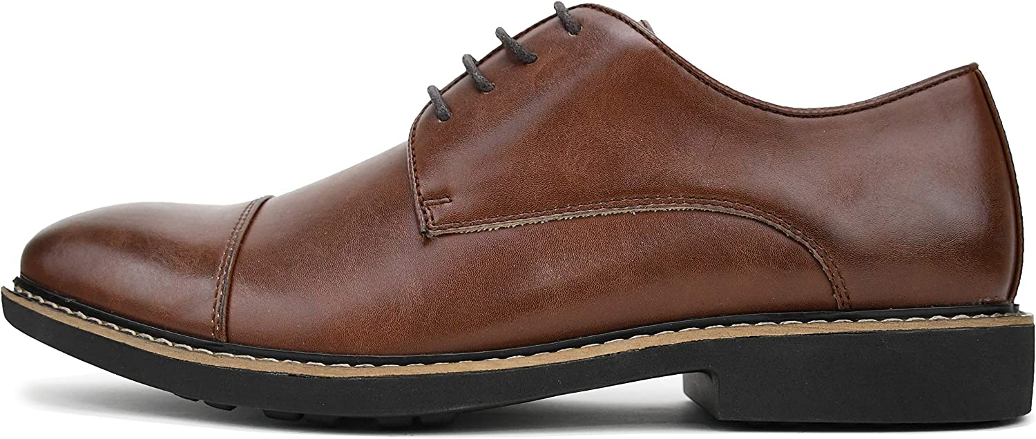 Amali Mens Casual Cap Toe Lace-Up Dress Shoe with Light Weight Outsole