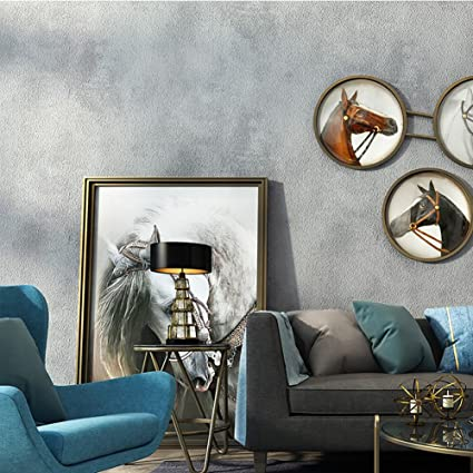 cheap for discount e3937 ea23a American style Industrial wind Pvc Wallpaper, Vintage Cement wall paper  Plain Living room Caf茅 Tv background wall-B 0.53m10m(20.8x393.7inch) - -  Amazon.com