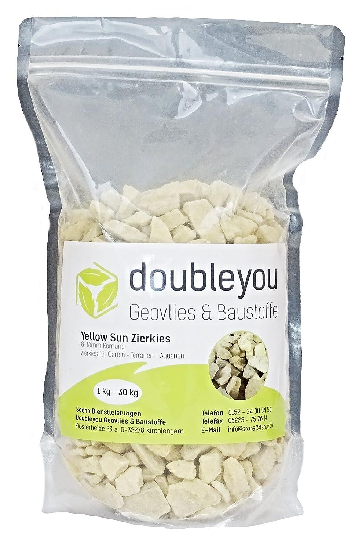 Doubleyou Geovlies /& Baustoffe 1 kg Yello Sun Kalkstein Kies 8-16mm