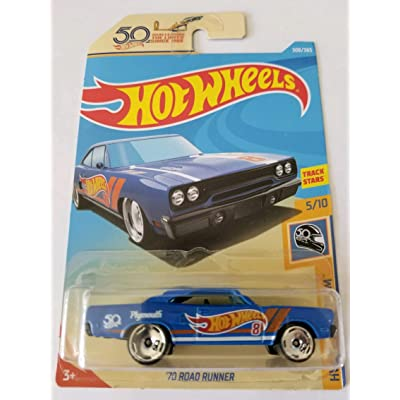 Hot Wheels 2020 Hw 50th Race Team 5/10 - '70 Plymouth Road Runner: Toys & Games