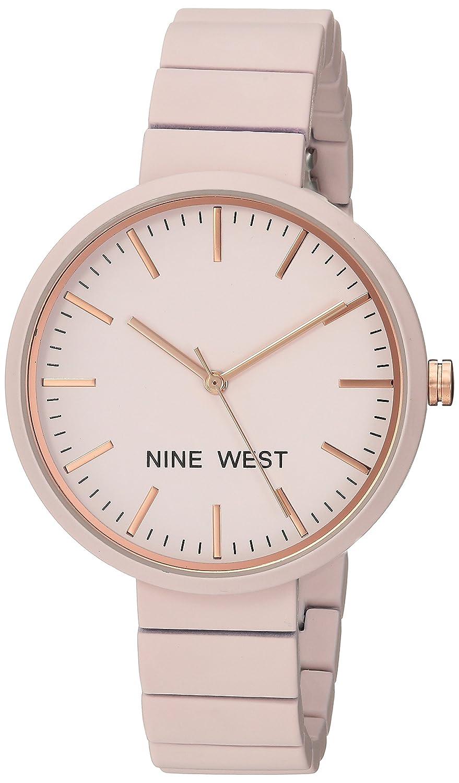 Amazon.com: Nine West Womens NW/2012LPRG Matte Pastel Pink Rubberized Bracelet Watch: Watches