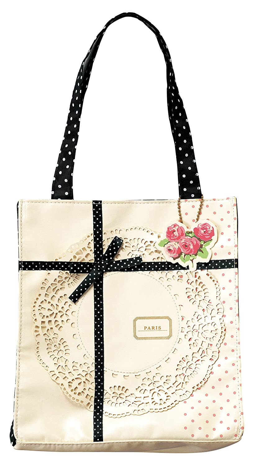 Mini-tote bag (Lacy Collage) Ivory (japan import)
