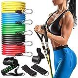 Perfotek Resistance Bands with Handles, Set for Exercise - 11 pcs Set for Fitness - Include Elastic Workout Bands, Door…