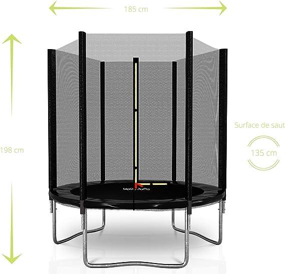 PLAY4FUN Deluxe 6FT - Cama elástica de jardín (diámetro 185 cm ...