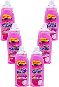Clorox Fraganzia Liquid Dish Soap Smells Great and Cuts Through Tough Grease Fast Quick Rinsing Formula Washes Away Germs A Powerful Clean You Can Trust, Spring Scent, 22 Ounces - 6 Pack
