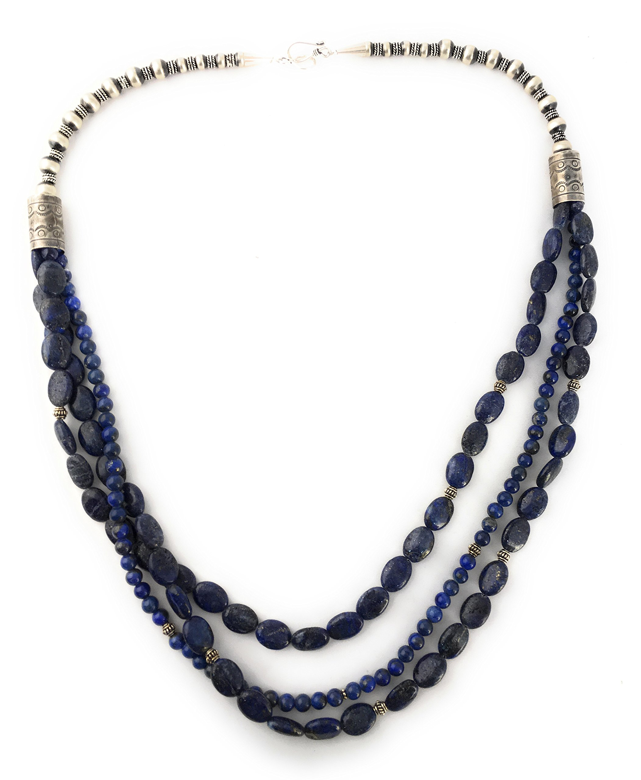Masha Storewide Sale ! Sterling Silver Necklace By Lapis Lazulli, Made in USA - Exclusive Southwestern Handmade Jewelry, Gift