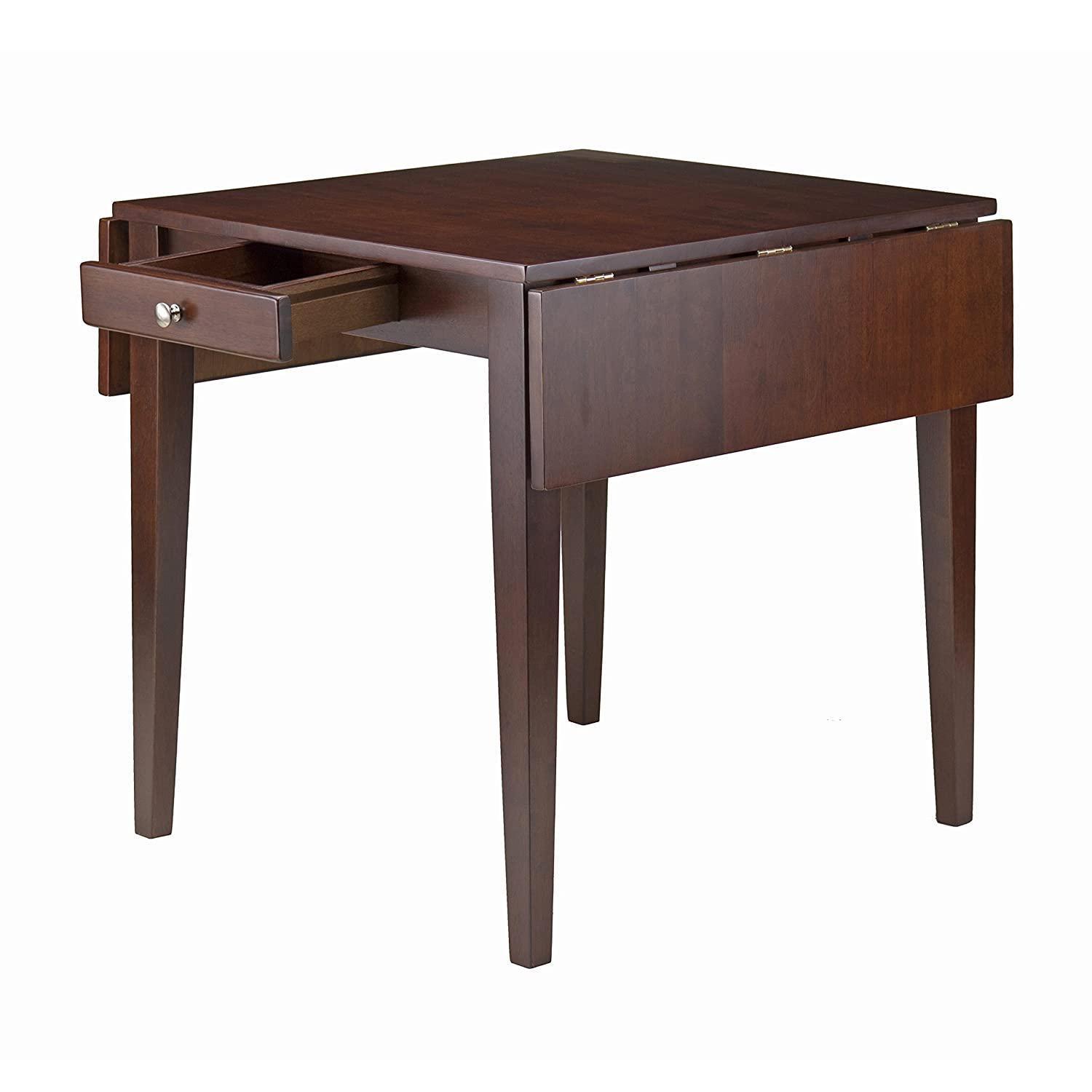 Amazon.com   Winsome Wood Hamilton Double Drop Leaf Dining Table   Tables