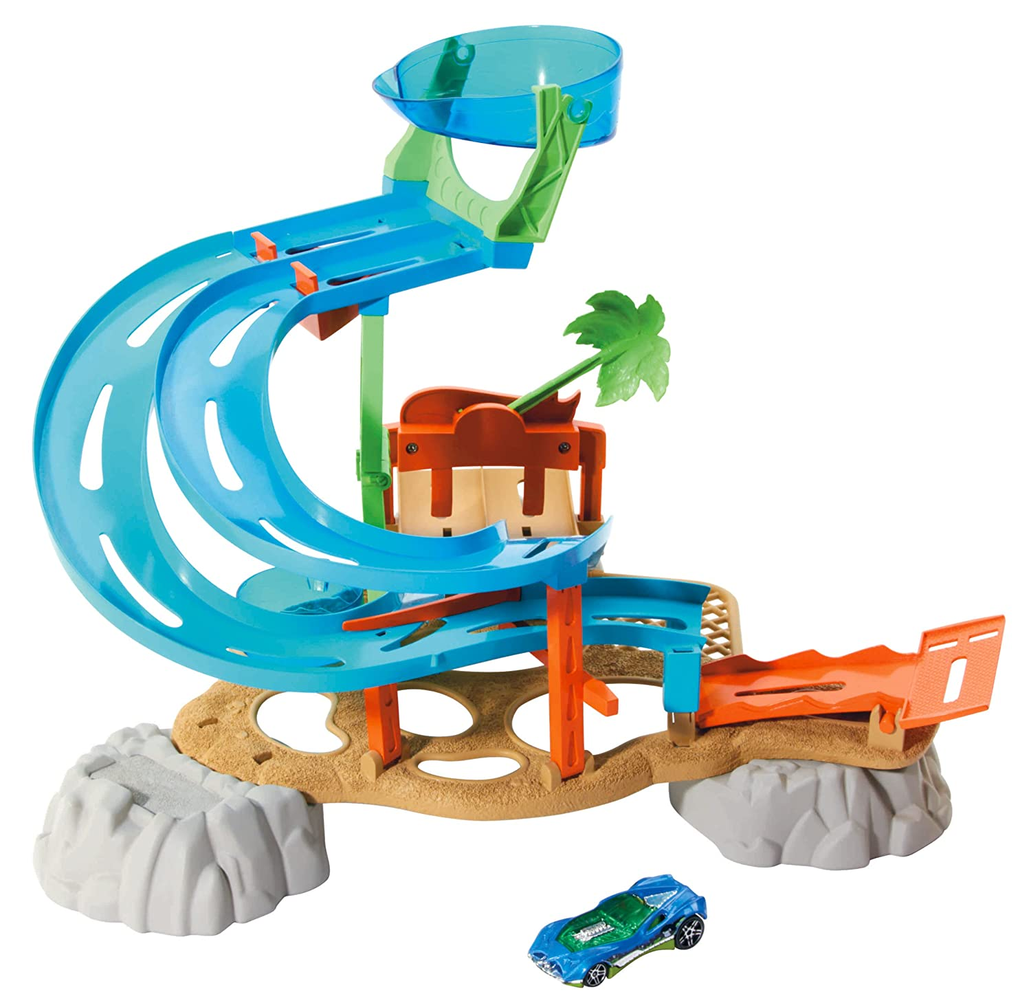 Amazon Hot Wheels Race Rally Water Park Playset Toys & Games