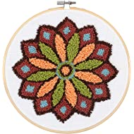 "Dimensions 72-70029 Multicolor Mandala Pattern Punch Needle Embroidery Kit, 8"" W x 8"" L,"