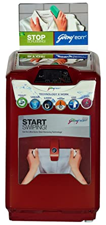 Godrej WT EON 651 PHU Fully-automatic Top-loading Washing Machine (6.5 Kg, Metallic Red)