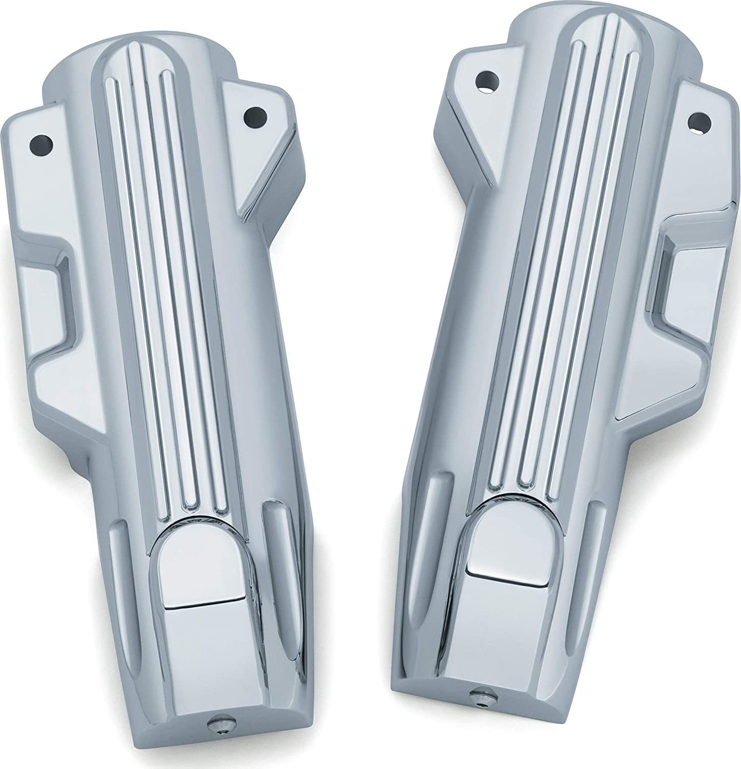 Kuryakyn 7142 Motorcycle Accent Accessory 1 Pair Upper Fork Slider Accents for 2014-19 Harley-Davidson Motorcycles Chrome