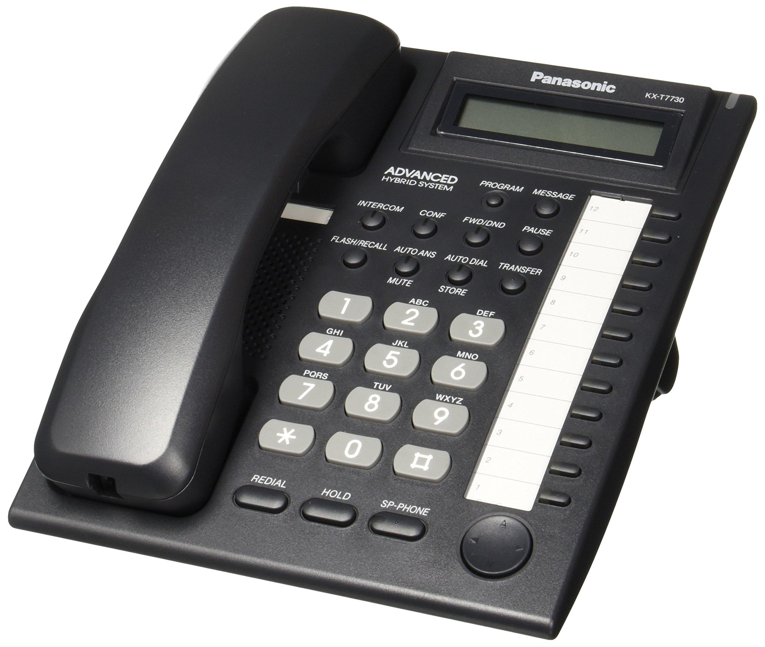 Panasonic KX-T7730 Telephone Black