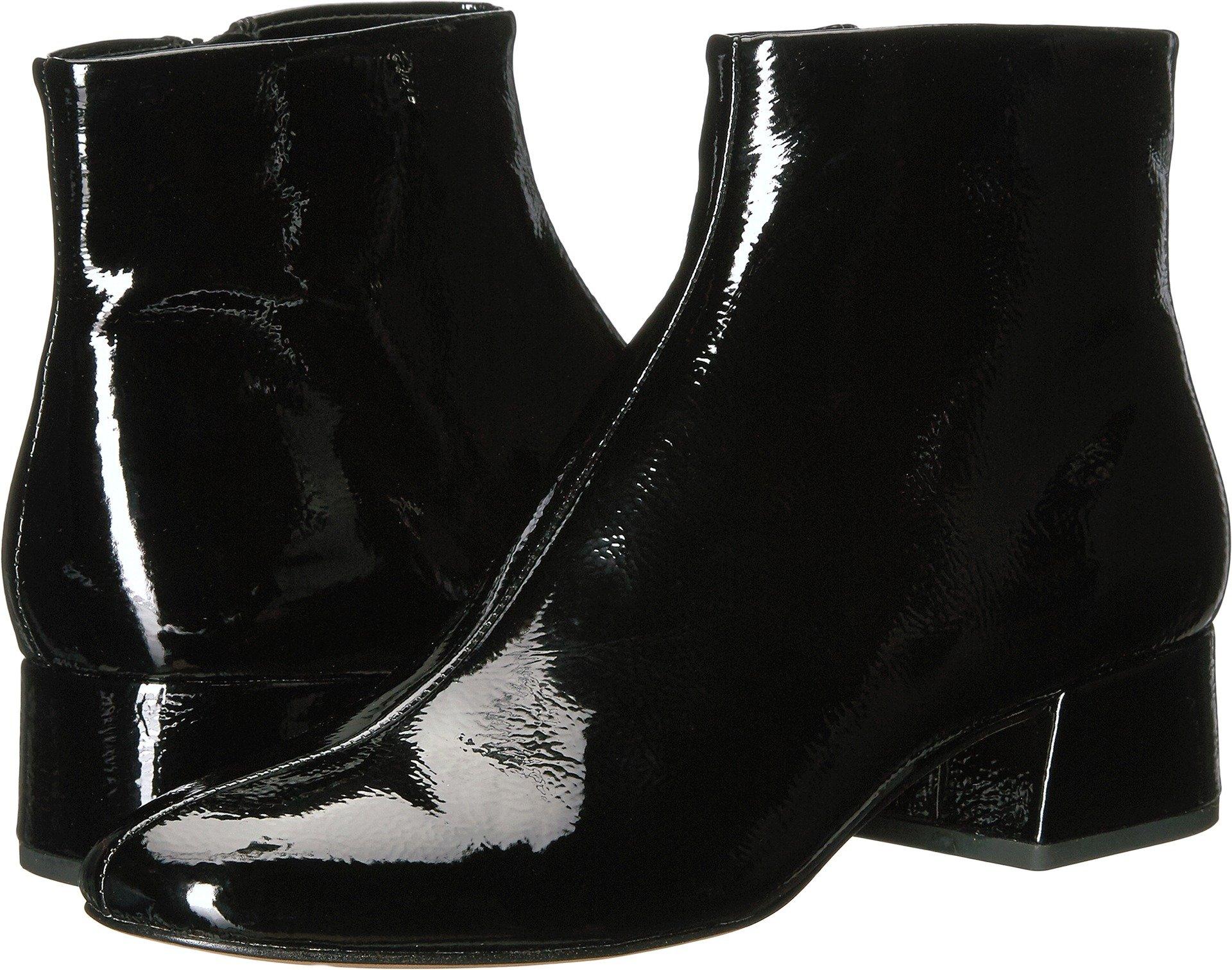 Dolce Vita Women's Jac Ankle Boot, Black Patent Stella, 7.5 Medium US