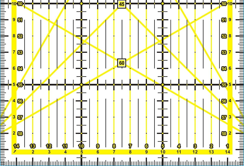Kadusi K Règle pour patchwork 15x 60cm Transparente et résistante