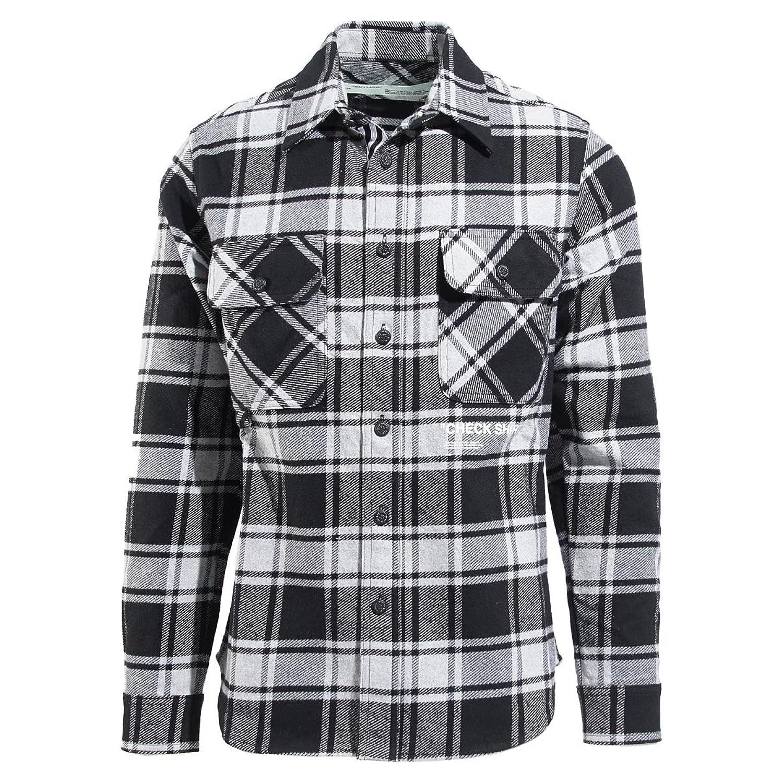 (オフホワイト) Off-White チェック柄 オーバーサイズ シャツ/QUOTE FLANNEL SHIRT クオート [並行輸入品] B07F3RPHKC  MEDIUMGREY S
