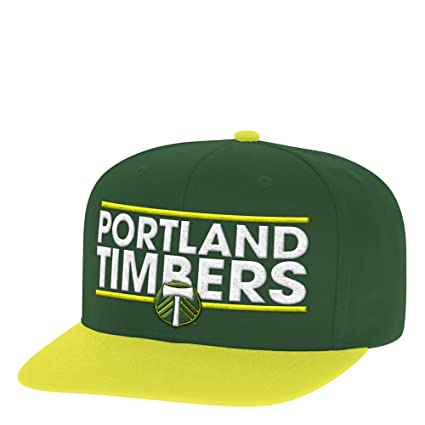 eeca4e88afc Image Unavailable. Image not available for. Color  adidas MLS Portland  Timbers Men s Dassler Flat Brim Snapback Hat
